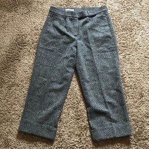 KS SELECTION Black/White Wool Culottes Pants